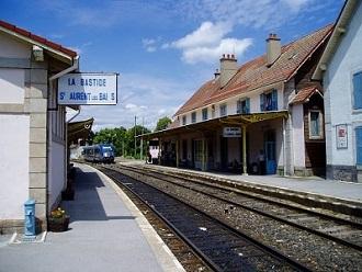 La Bastide-Puylaurent's railway station in Lozere
