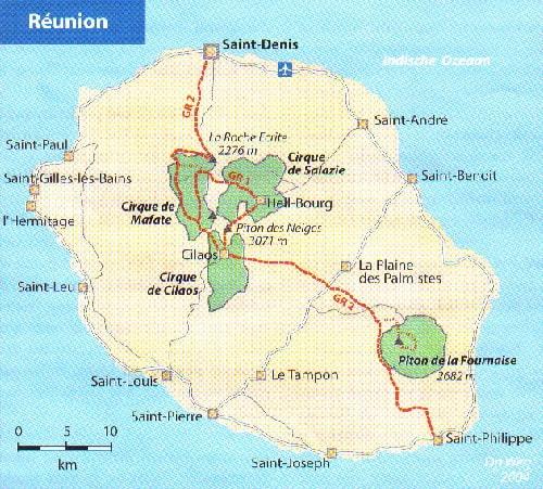 Wandelen op Réunion
