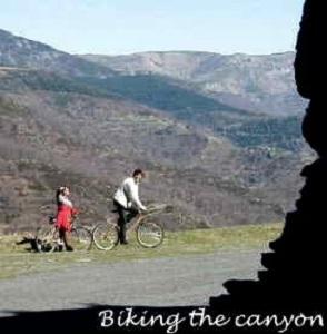 Biking along Borne valley from La Bastide-Puylaurent to Pied de Borne
