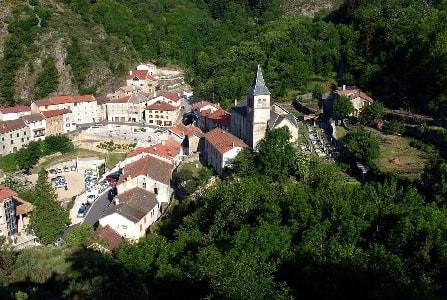 St Laurent les Bains en Ardèche