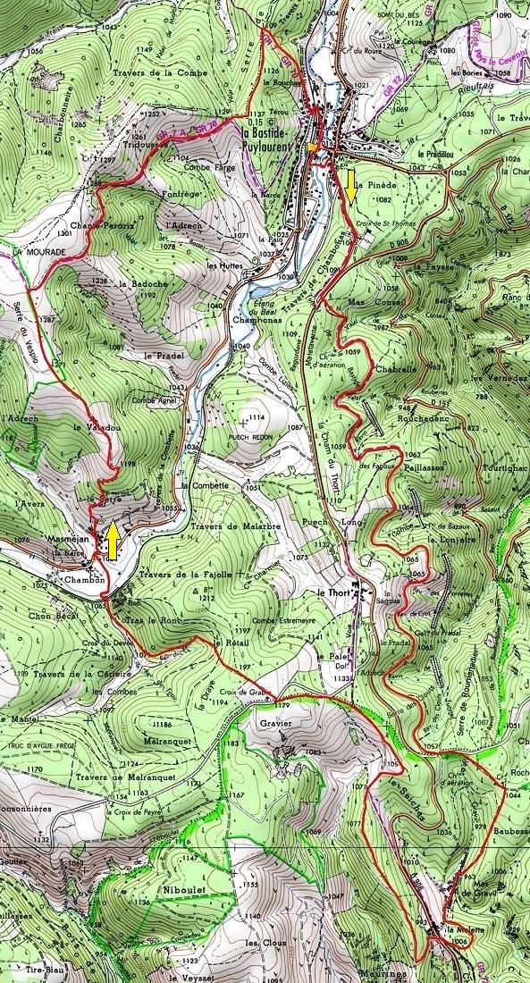 Randonnée de 19,5km à La Bastide-Puylaurent en Lozère