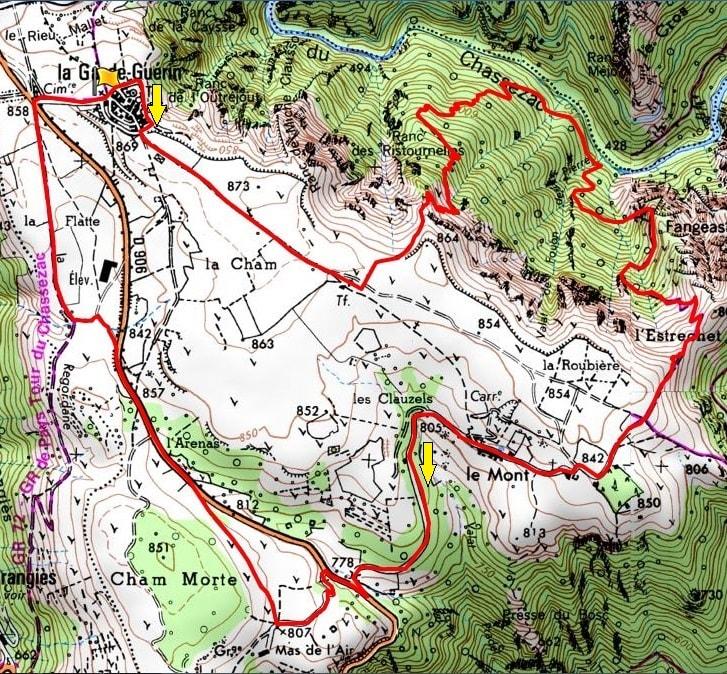 10km hike at La Garde-Guerin in Lozere