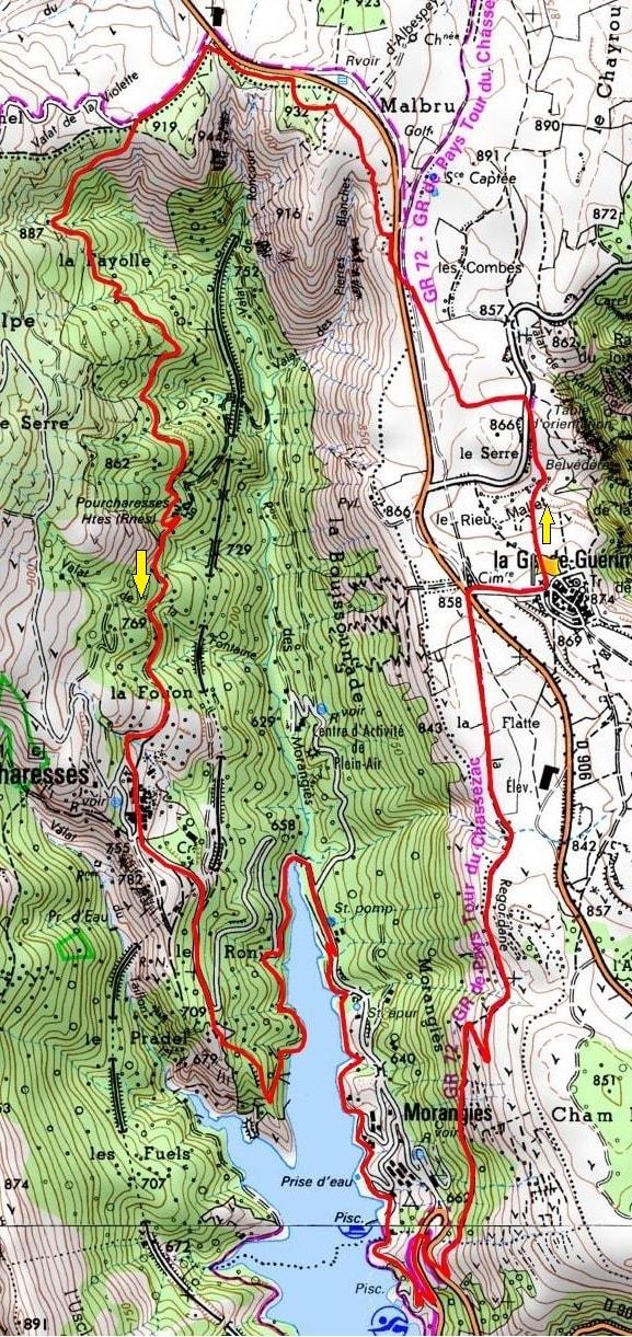 洛泽尔省La Garde-Guerin 13公里徒步路线