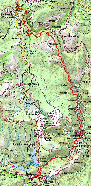 Circuit en vélo de 30km à La Bastide-Puylaurent en Lozère