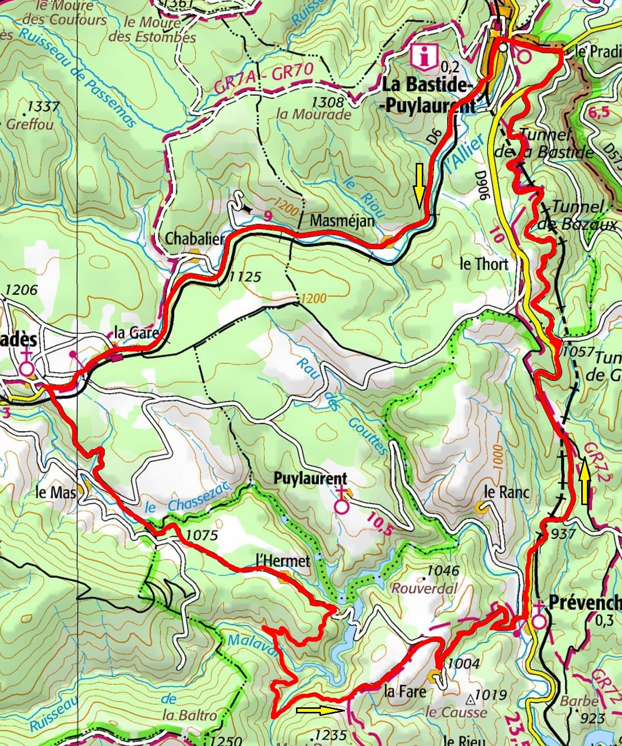 Circuit en vélo de 36km à La Bastide-Puylaurent en Lozère